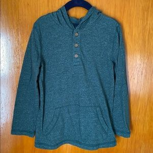 Sonoma Green Hooded Long Sleeved Shirt - Size: 5